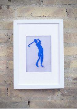 El Golfista - Rosa Montesa - Pirografiado-soldado de plástico