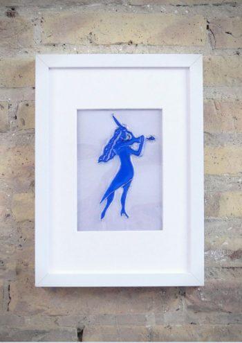 La Violinista - Rosa Montesa - Pirografiado-soldado de plástico