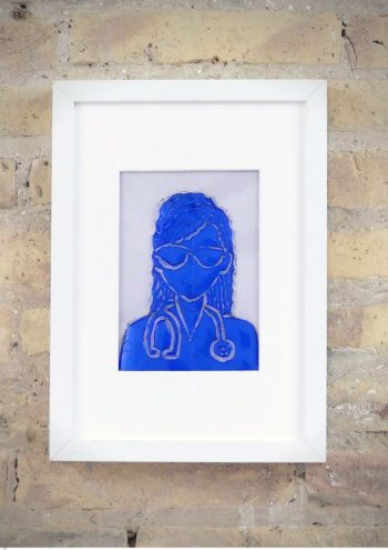 La Doctora - Rosa Montesa - Pirografiado-soldado de plástico