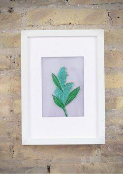 Botánica - Planta - Rosa Montesa - Pirografiado-soldado de plástico